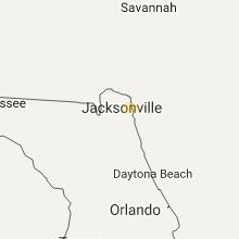 Regional Hail Map for Jacksonville, FL - Wednesday, July 26, 2017