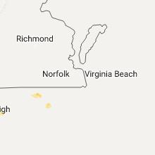 Regional Hail Map for Virginia Beach, VA - Friday, July 28, 2017