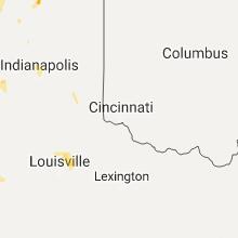 Regional Hail Map for Cincinnati, OH - Tuesday, August 1, 2017