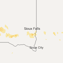 Regional Hail Map for Sioux Falls, SD - Tuesday, August 1, 2017