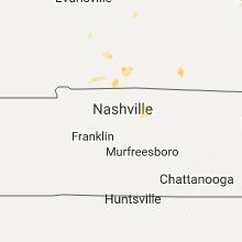 Regional Hail Map for Nashville, TN - Wednesday, August 2, 2017