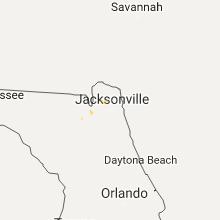 Regional Hail Map for Jacksonville, FL - Sunday, August 6, 2017