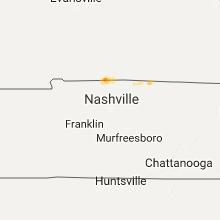 Regional Hail Map for Nashville, TN - Sunday, August 6, 2017