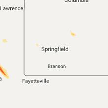 Regional Hail Map for Springfield, MO - Thursday, August 10, 2017