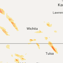 Hail Map for wichita-ks 2017-08-10