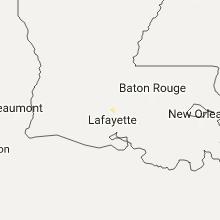 Regional Hail Map for Lafayette, LA - Saturday, August 12, 2017