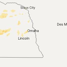 Regional Hail Map for Omaha, NE - Tuesday, August 15, 2017