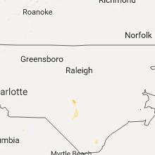 Regional Hail Map for Raleigh, NC - Thursday, August 17, 2017