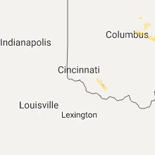 Regional Hail Map for Cincinnati, OH - Saturday, August 19, 2017