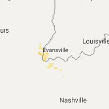 Regional Hail Map for Evansville, IN - Saturday, August 19, 2017