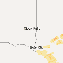 Regional Hail Map for Sioux Falls, SD - Sunday, August 20, 2017