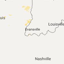 Regional Hail Map for Evansville, IN - Monday, August 21, 2017
