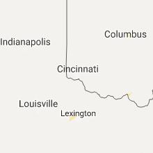 Regional Hail Map for Cincinnati, OH - Tuesday, August 22, 2017