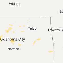 Regional Hail Map for Tulsa, OK - Tuesday, August 22, 2017
