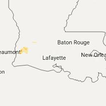 Regional Hail Map for Lafayette, LA - Wednesday, August 23, 2017