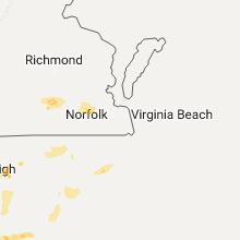 Regional Hail Map for Virginia Beach, VA - Wednesday, August 23, 2017