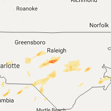 Regional Hail Map for Raleigh, NC - Friday, September 1, 2017
