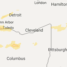 Regional Hail Map for Cleveland, OH - Monday, September 4, 2017