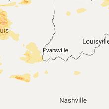 Regional Hail Map for Evansville, IN - Monday, September 4, 2017