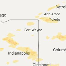 Regional Hail Map for Fort Wayne, IN - Monday, September 4, 2017