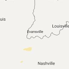 Regional Hail Map for Evansville, IN - Tuesday, September 5, 2017