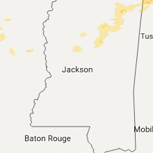 Regional Hail Map for Jackson, MS - Tuesday, September 5, 2017