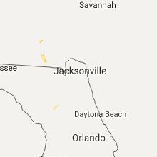 Hail Map for jacksonville-fl 2017-09-15
