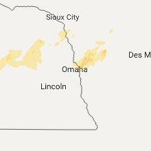 Regional Hail Map for Omaha, NE - Friday, September 15, 2017