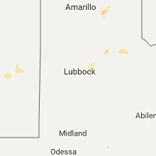 Regional Hail Map for Lubbock, TX - Saturday, September 16, 2017