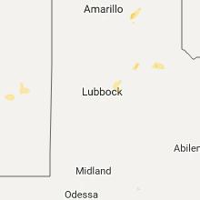 Regional Hail Map for Lubbock, TX - Saturday, September 16, 2017