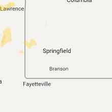Regional Hail Map for Springfield, MO - Saturday, September 16, 2017