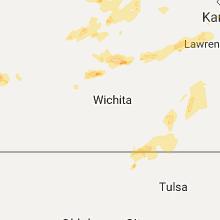 Regional Hail Map for Wichita, KS - Saturday, September 16, 2017