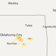 Hail Map for tulsa-ok 2017-09-17