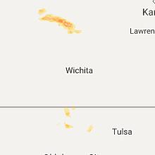 Regional Hail Map for Wichita, KS - Monday, September 18, 2017