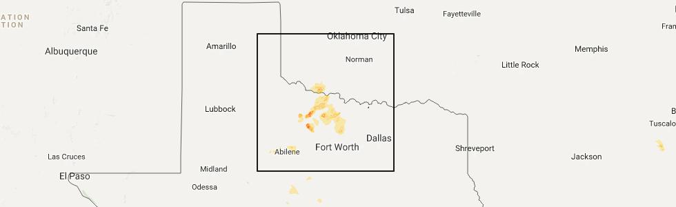 Interactive Hail Maps Hail Map for Wichita Falls TX