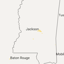 Regional Hail Map for Jackson, MS - Wednesday, September 20, 2017