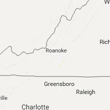 Regional Hail Map for Roanoke, VA - Wednesday, September 20, 2017