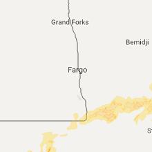 Regional Hail Map for Fargo, ND - Thursday, September 21, 2017