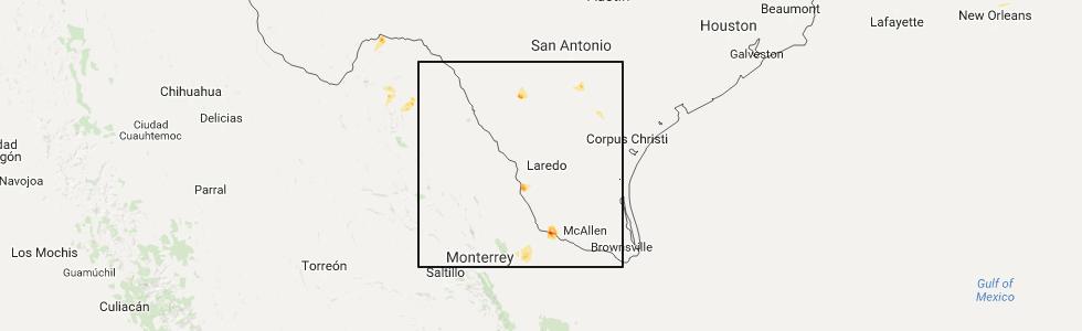 Interactive Hail Maps Hail Map for San Fernando TX