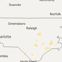 Regional Hail Map for Raleigh, NC - Thursday, September 21, 2017
