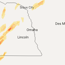 Regional Hail Map for Omaha, NE - Monday, October 2, 2017