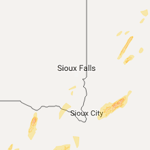 Regional Hail Map for Sioux Falls, SD - Monday, October 2, 2017