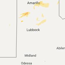 Regional Hail Map for Lubbock, TX - Friday, October 6, 2017