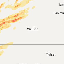 Regional Hail Map for Wichita, KS - Friday, October 6, 2017