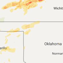 Hail Map for woodward-ok 2017-10-06