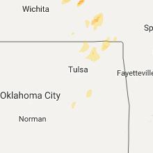 Regional Hail Map for Tulsa, OK - Monday, October 9, 2017