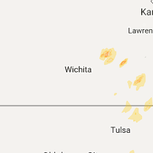Regional Hail Map for Wichita, KS - Monday, October 9, 2017