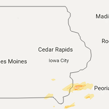 Regional Hail Map for Cedar Rapids, IA - Saturday, October 14, 2017