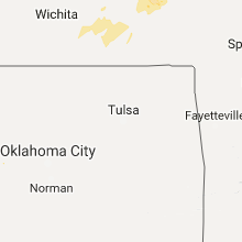 Regional Hail Map for Tulsa, OK - Saturday, October 14, 2017