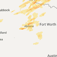 Regional Hail Map for Abilene, TX - Saturday, October 21, 2017